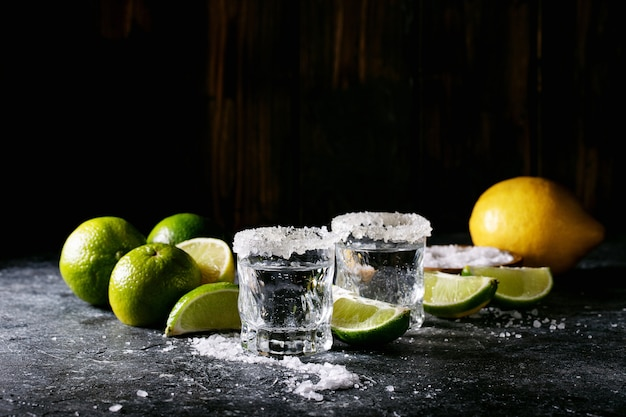 Tequila in a glass Premium Photo