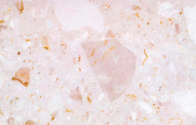 Предпосылка текстуры терраццо. этакая мраморная текстура розового камня. Premium Фотографии