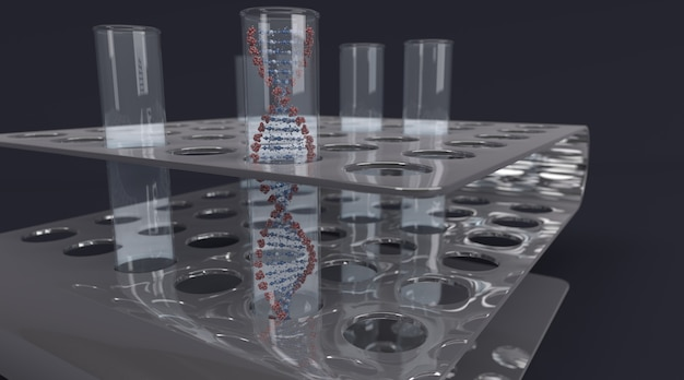 Test tube containing dna Free Photo