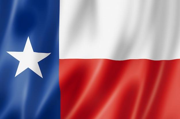 テキサス州旗、米国 Premium写真