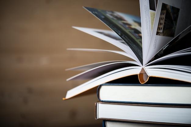 Text study stack teacher textbook Free Photo