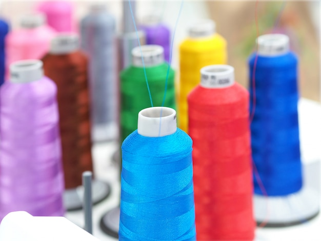Textile threads industry Premium Photo