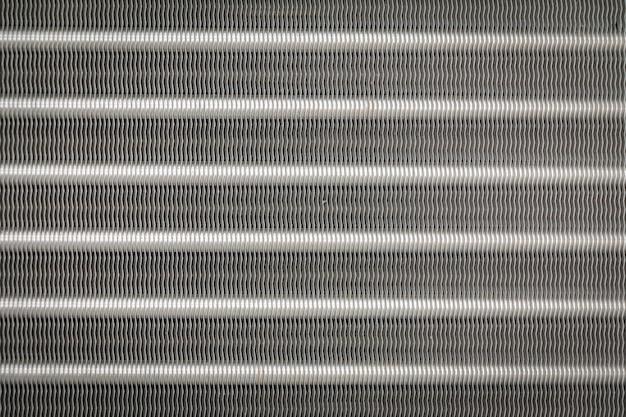 Текстура и backgroud из алюминиевых ребер конденсатора для кондиционера Premium Фотографии