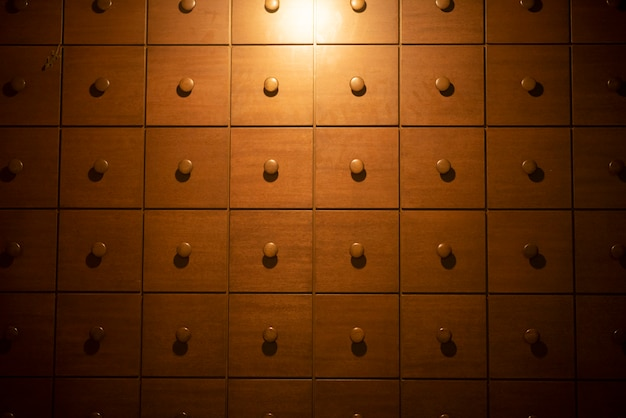 Texture background of wooden drawer Premium Photo