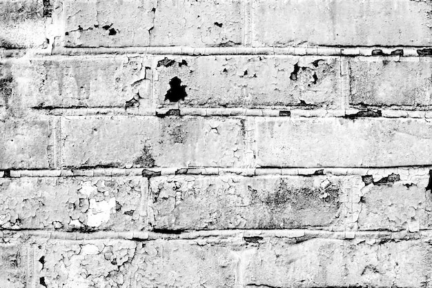 Texture, brick, wall, it can be used as a background. brick texture with scratches and cracks Premium Photo