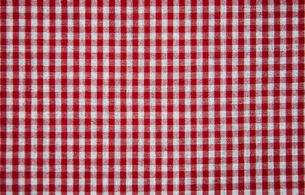 Texture of checkered fabric Premium Photo