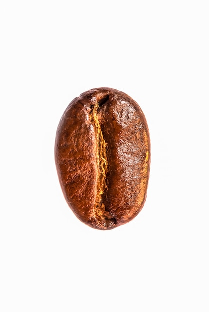 Texture of coffee beans on isolate white background Premium Photo