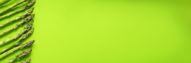 Premium Photo Texture Of Fresh Green Asparagus Top View