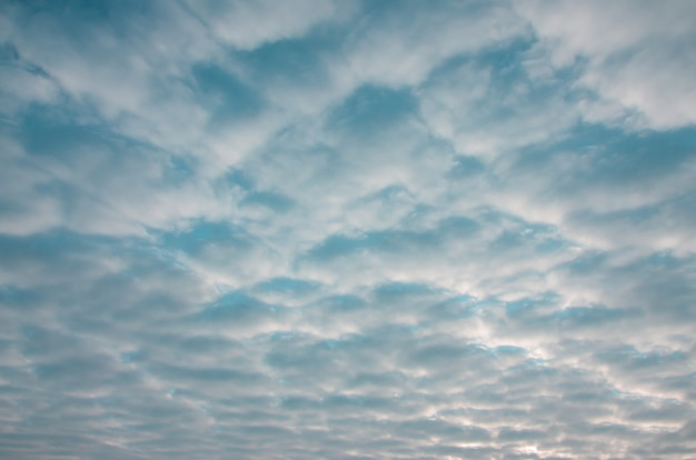 Texture of a gloomy cloudy sky at dawn Premium Photo