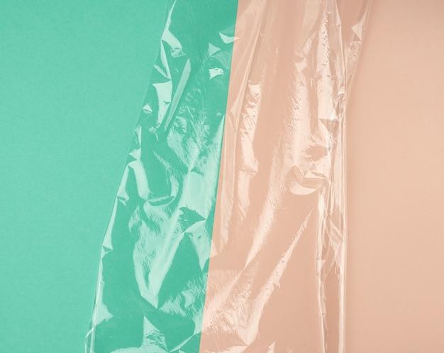 包装用透明ストレッチプラスチックフィルムの質感 Premium写真