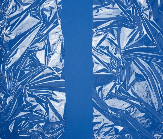 包装製品用の透明なストレッチプラスチックフィルムのテクスチャ Premium写真