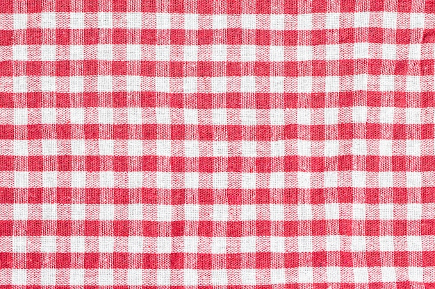 Texture of checkered tablecloth Free Photo