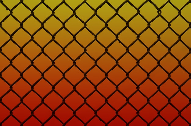 Texture of an old and rusty metal mesh on a neutral colored background Premium Photo