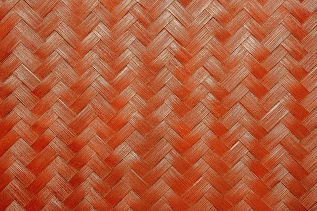Texture of red bamboo wicker. Premium Photo