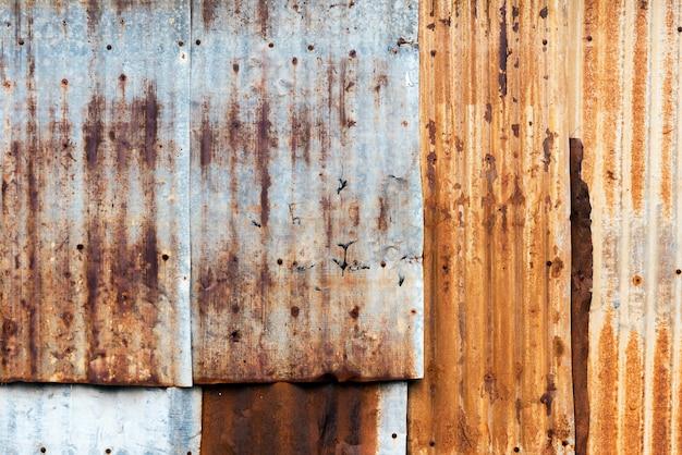 Texture of rusty corrugated iron metal sheet texture. Premium Photo