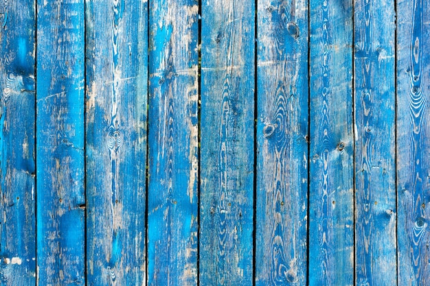 Texture of vintage blue and turquoise painted wooden background Premium Photo