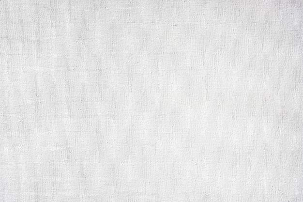 The texture of the white color canvas for the background design image Premium Photo