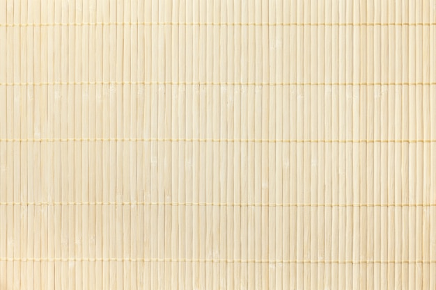 Texture of wooden light background. bamboo traditional napkin for a table. Premium Photo