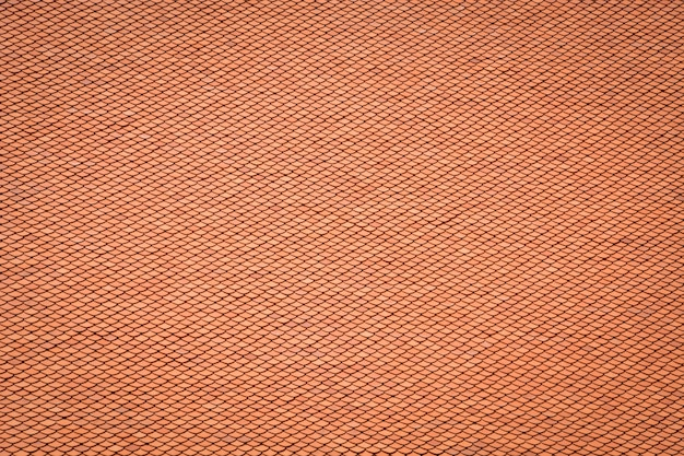 Thai old style rooftop pattern design, layer of red clay