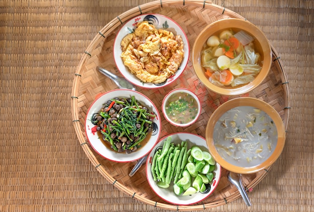 Thai style food Premium Photo