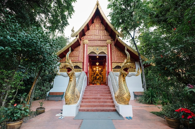 Thai temple in northern of thailand Free Photo