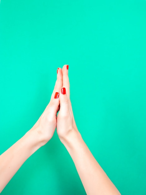 The thank you praying hands hand sign Premium Photo