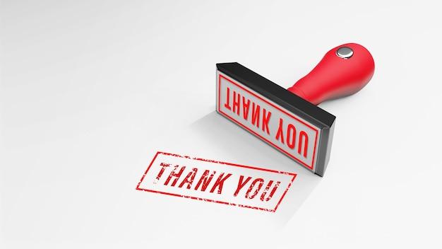 ありがとうラバースタンプ3dレンダリング Premium写真