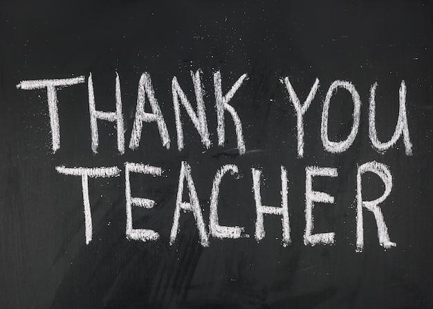 Thank you teacher inscription Free Photo
