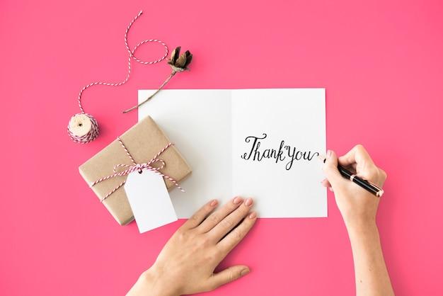 Thank you thanks gratitude gift appreciate concept Premium Photo
