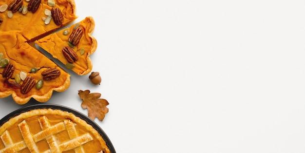 Тыквенный пирог на день благодарения с копией пространства Бесплатные Фотографии