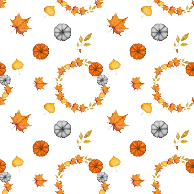 Thanksgiving seamless pattern Premium Photo