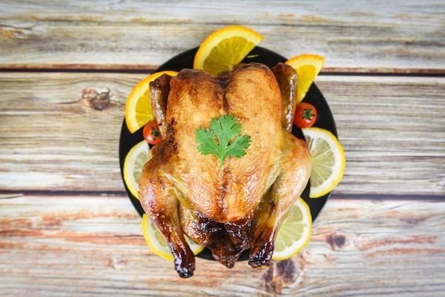 Thanksgiving table celebration traditional setting food Premium Photo