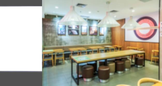 広告ランプボックスと曖昧なレストランの内装 Premium写真
