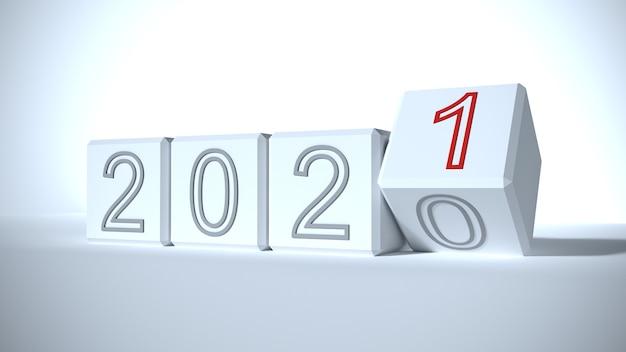 2020年から2021年への年の変更の概念 | プレミアム写真
