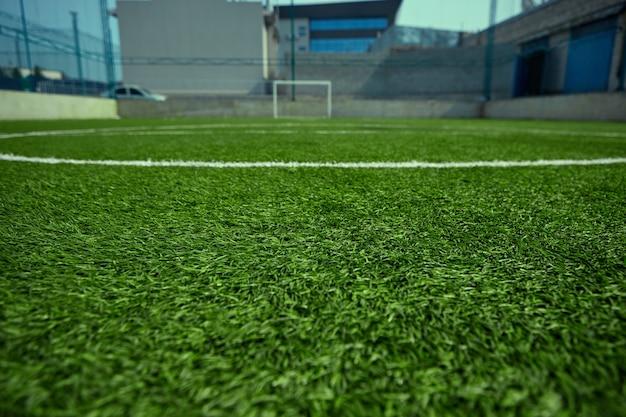 Пустое футбольное поле и зеленая трава Бесплатные Фотографии