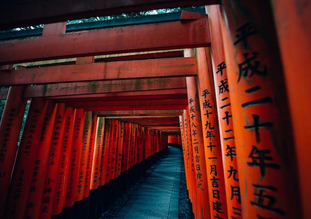 Путь фусими-инари в киото Premium Фотографии