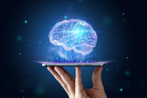 人間の脳のイメージ Premium写真