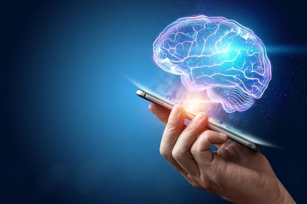 Образ человеческого мозга Premium Фотографии