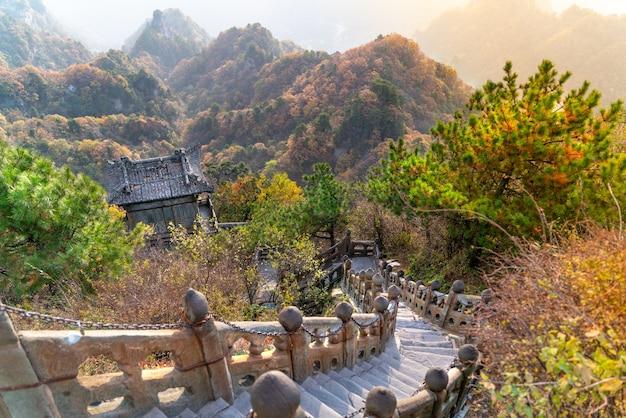 中国の山々にある古い古代仏教寺院 Premium写真