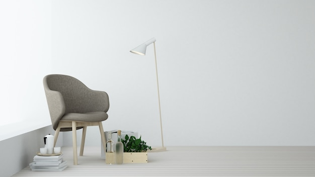 The Relax Space Furniture 3d Rendering And Background White