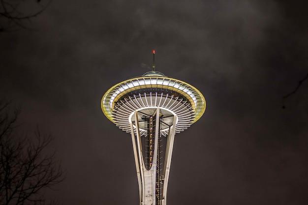 シアトルのスペースニードルタワー 無料写真
