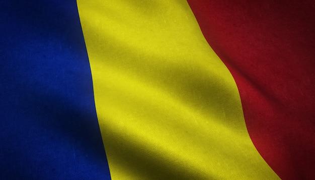 Развевающийся флаг румынии Бесплатные Фотографии