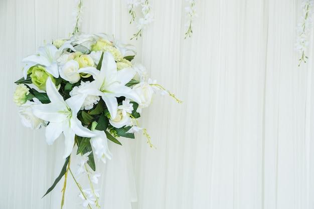 The white fabric flowers photo premium download the white fabric flowers premium photo mightylinksfo