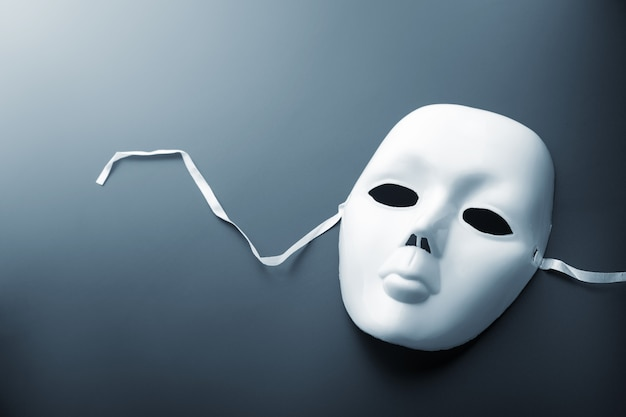 Theater mask on grey Premium Photo