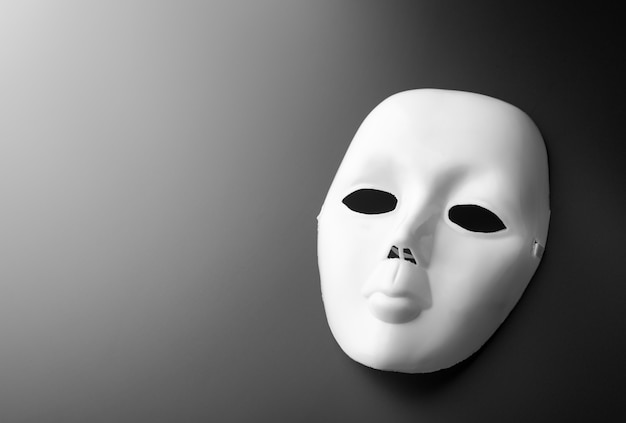 Theater mask on grey Premium Photo