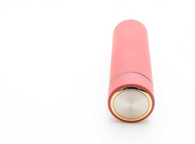 Thermos bottle on white background Premium Photo