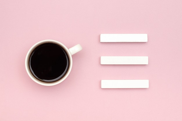 Three blank cubes calendar mock up tamplate for your calendar date, cup coffee Premium Photo