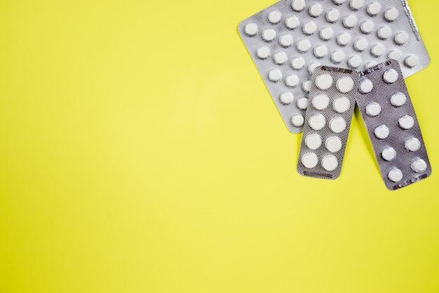 Three blocks of different pills Premium Photo