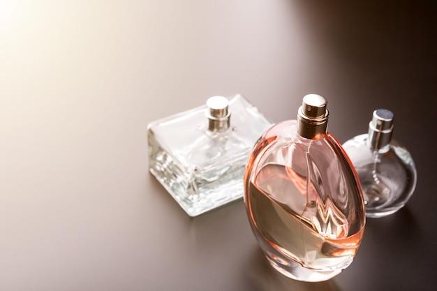 Three bottles of perfumes Premium Photo