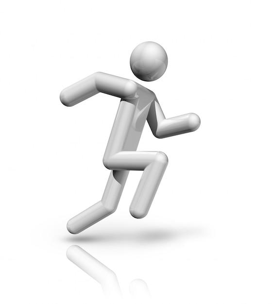Three dimensional athletics symbol Premium Photo